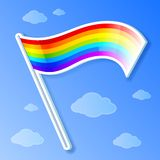 Vector rainbow flag Stock Photography