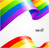 Vector rainbow flag waving on white Royalty Free Stock Image