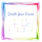Vector rainbow frame on white background Royalty Free Stock Photography