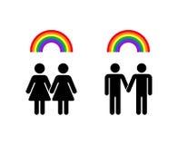 Vector rainbow gay. Homosexual love and lesbian romantic emblem illustration Stock Photo