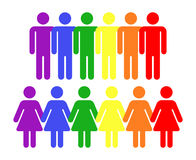 Vector rainbow gay LGBT rights icons Royalty Free Stock Image