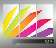 Vector rainbow geometric  banners Royalty Free Stock Photo