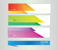 Vector rainbow geometric  banners Stock Photo