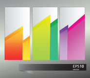 Vector rainbow geometric  banners Royalty Free Stock Image