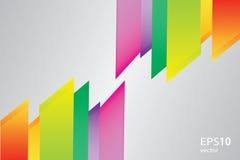 Vector rainbow geometric pattern background Royalty Free Stock Photos