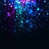 Vector rainbow glowing light glitter background. Galaxy magic lights background vector illustration