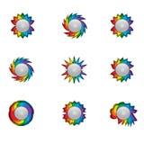 Vector rainbow icons Royalty Free Stock Image