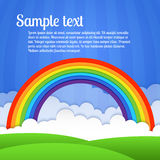 Vector rainbow illustration Royalty Free Stock Images