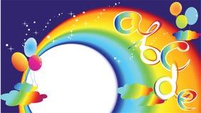 Vector rainbow letter ABC Royalty Free Stock Photography
