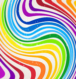 Vector rainbow lines Royalty Free Stock Image