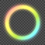 Vector rainbow neon frame stock illustration
