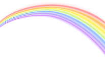 Vector - Rainbow over white Stock Images