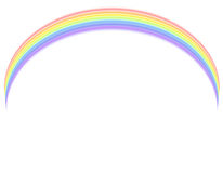 Vector - Rainbow over white Stock Photo