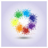 Vector rainbow of paint spray Stock Photos