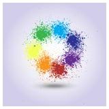 Vector rainbow of paint spray Stock Photos