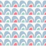 Vector rainbow seamless repeat pattern vector illustration
