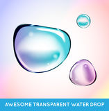 Vector Rainbow Soap Water Bubbles Set. Transparent Isolated Real Stock Images