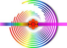 Vector rainbow spiral Royalty Free Stock Image