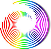 Vector rainbow spiral color Stock Images