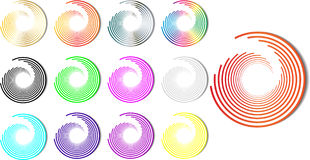 Vector rainbow spiral color Stock Photography