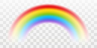 Vector rainbow with transparent effect stock illustration
