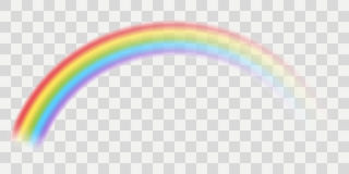 Vector rainbow. With transparent effect royalty free illustration