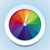 Vector rainbow watches Stock Images