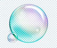 Vector Rainbow Water Bubbles. Transparent Isolated Realistic Des Royalty Free Stock Images