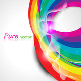 Vector rainbow wave Stock Photos