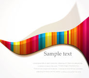 Vector rainbow wave background Stock Image