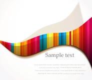 Vector rainbow wave background Stock Image