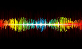 Vector Rainbow waveform equalizer. With ligths effects Vector Illustration
