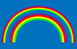 Vector Rainbows Stock Photography
