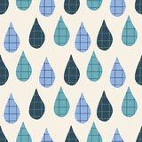 Vector raindrops textured repeat pattern background in blue greens and cream. Vector raindrops textured repeat pattern in blue greens and cream royalty free illustration
