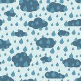 Vector rainy weather seamless pattern Stock Image