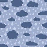 Vector rainy weather seamless pattern Royalty Free Stock Photos