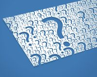 Vector Random Question Marks On White Paper Card Royalty Free Stock Image