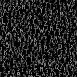 Vector random seamless pattern grunge letters. Can be used for textiles, wallpaper and wrapping paper Stock Photo