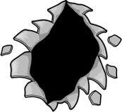 Vector rasgado del agujero Foto de archivo libre de regalías