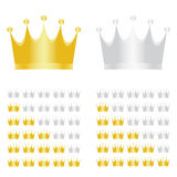 Vector rating crowns Stock Images