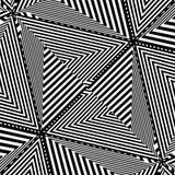Vector rayado blanco y negro del ejemplo del fondo Foto de archivo
