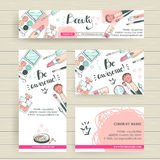 Vector ready design template for makeup artist, makeup studio or Royalty Free Stock Image