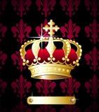 Vector real de la corona Imagen de archivo