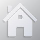 Vector real estate icon on gray background Stock Image