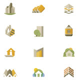Vector real estate icon set Royalty Free Stock Photos