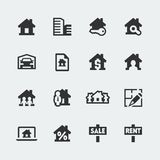 Vector real estate icons set Royalty Free Stock Image