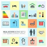 Vector real estate icons set Stock Photography