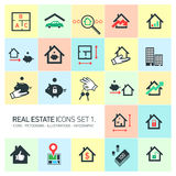 Vector real estate icons set Royalty Free Stock Photo