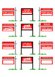 Vector real estate sale signage Royalty Free Stock Photos