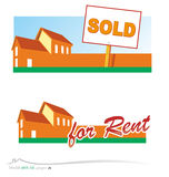 Vector real estate. Vector set real estate project Royalty Free Stock Photos